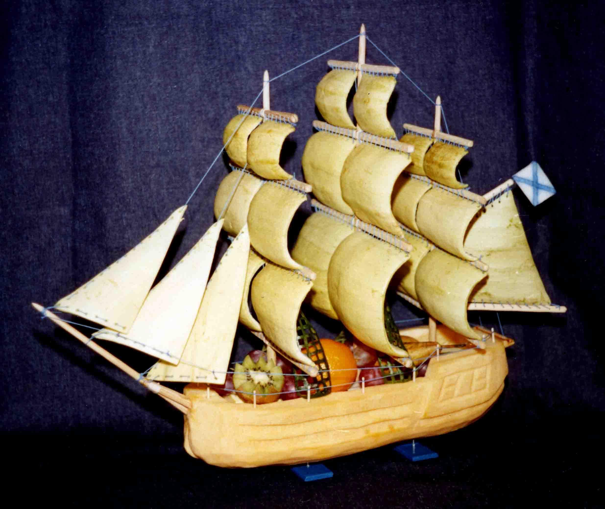 Как сделать корабль из кабачка мастер класс